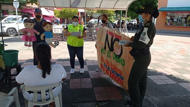 Policía lidera en Caldas campaña contra el trabajo infantil - Noticias de Colombia